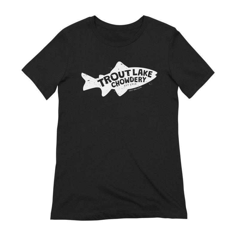 Trout Lake Chowdery Women's Extra Soft T-Shirt by A Wonderful Shop of Wonderful Wonders