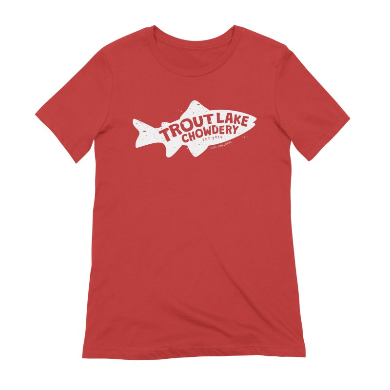 Trout Lake Chowdery Women's Extra Soft T-Shirt by A Wonderful Shop of Wonderful Wonders
