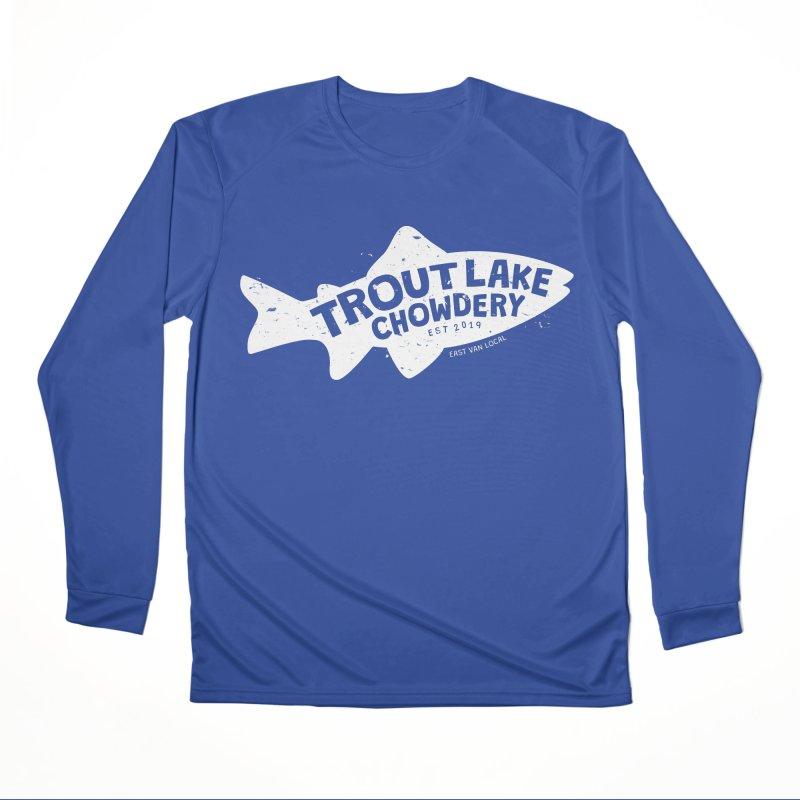 Trout Lake Chowdery Men's Performance Longsleeve T-Shirt by A Wonderful Shop of Wonderful Wonders