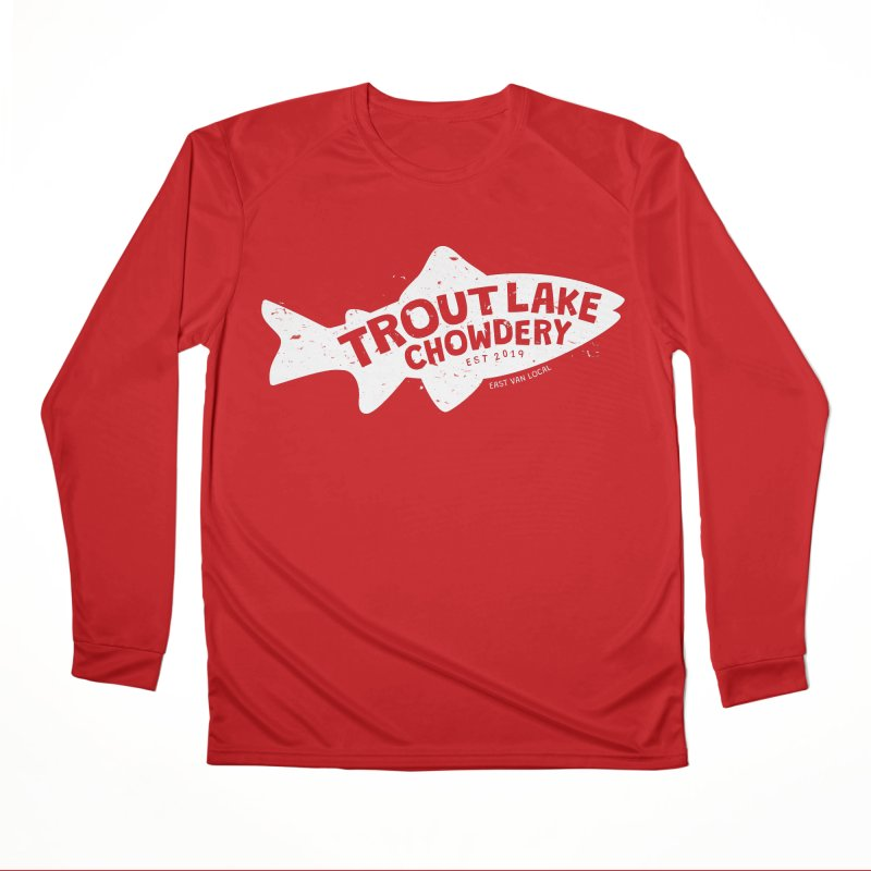 Trout Lake Chowdery Men's Performance Longsleeve T-Shirt by A Wonderful Shop of Wonderful Wonders