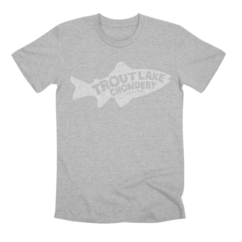 Trout Lake Chowdery Men's Premium T-Shirt by A Wonderful Shop of Wonderful Wonders