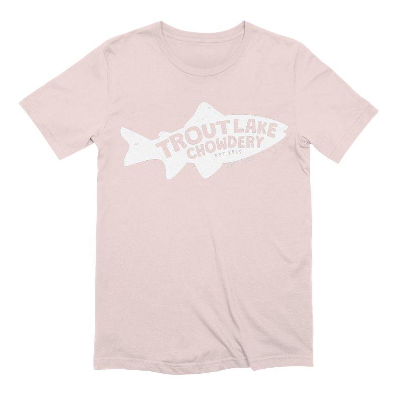 Trout Lake Chowdery Men's Extra Soft T-Shirt by A Wonderful Shop of Wonderful Wonders