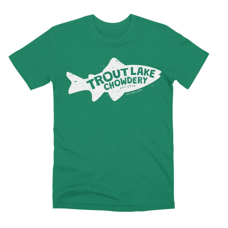 Trout Lake Chowdery Men's Premium T-Shirt by A Wonderful Shop of Wonderful Wonders