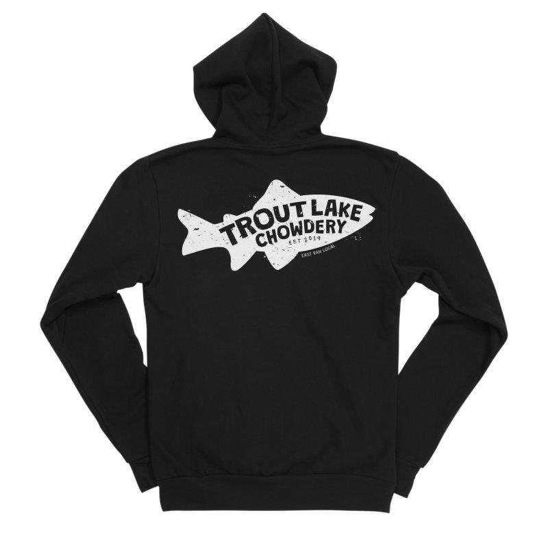 Trout Lake Chowdery Men's Sponge Fleece Zip-Up Hoody by A Wonderful Shop of Wonderful Wonders