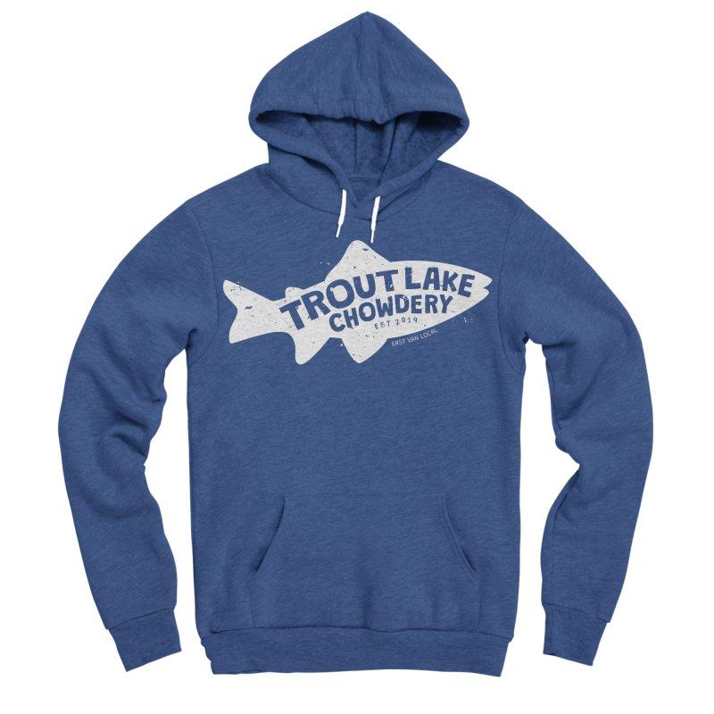 Trout Lake Chowdery Men's Sponge Fleece Pullover Hoody by A Wonderful Shop of Wonderful Wonders
