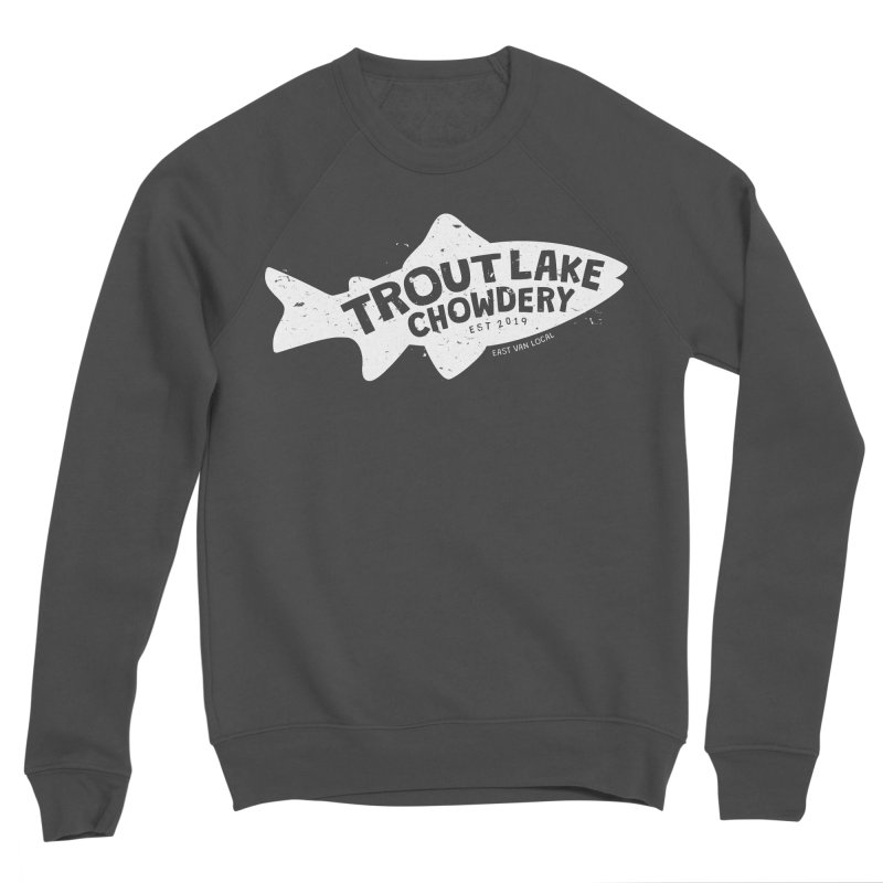 Trout Lake Chowdery Women's Sponge Fleece Sweatshirt by A Wonderful Shop of Wonderful Wonders