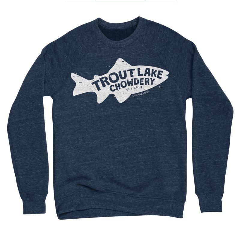 Trout Lake Chowdery Men's Sponge Fleece Sweatshirt by A Wonderful Shop of Wonderful Wonders