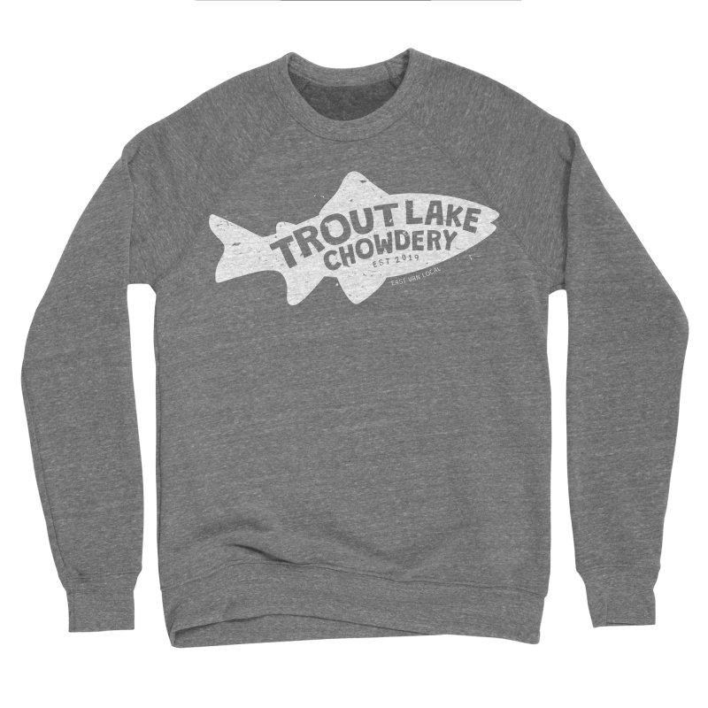 Trout Lake Chowdery Women's Sponge Fleece Sweatshirt by A Wonderful Shop of Wonderful Wonders