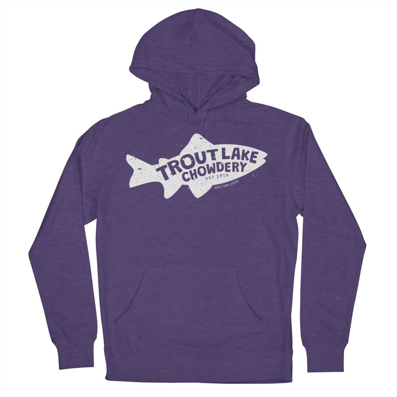 Trout Lake Chowdery Men's French Terry Pullover Hoody by A Wonderful Shop of Wonderful Wonders