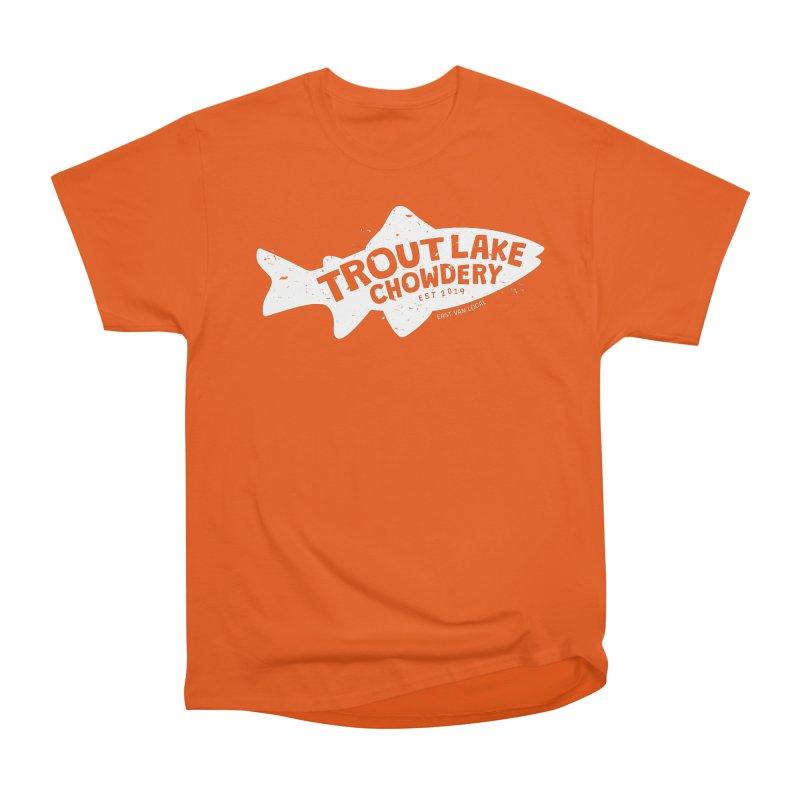 Trout Lake Chowdery Men's Heavyweight T-Shirt by A Wonderful Shop of Wonderful Wonders