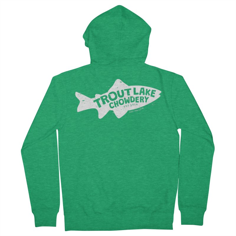 Trout Lake Chowdery Women's Zip-Up Hoody by A Wonderful Shop of Wonderful Wonders
