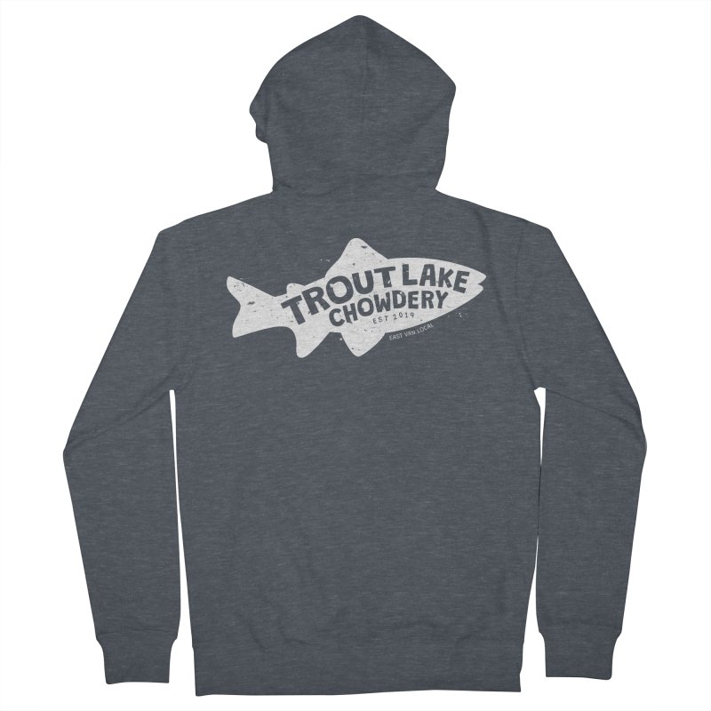Trout Lake Chowdery Women's French Terry Zip-Up Hoody by A Wonderful Shop of Wonderful Wonders