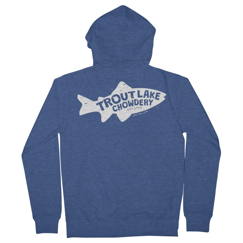 Trout Lake Chowdery Men's French Terry Zip-Up Hoody by A Wonderful Shop of Wonderful Wonders