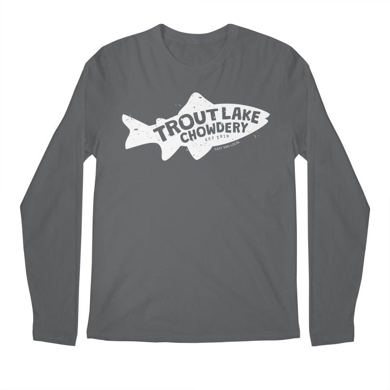 Trout Lake Chowdery Men's Regular Longsleeve T-Shirt by A Wonderful Shop of Wonderful Wonders