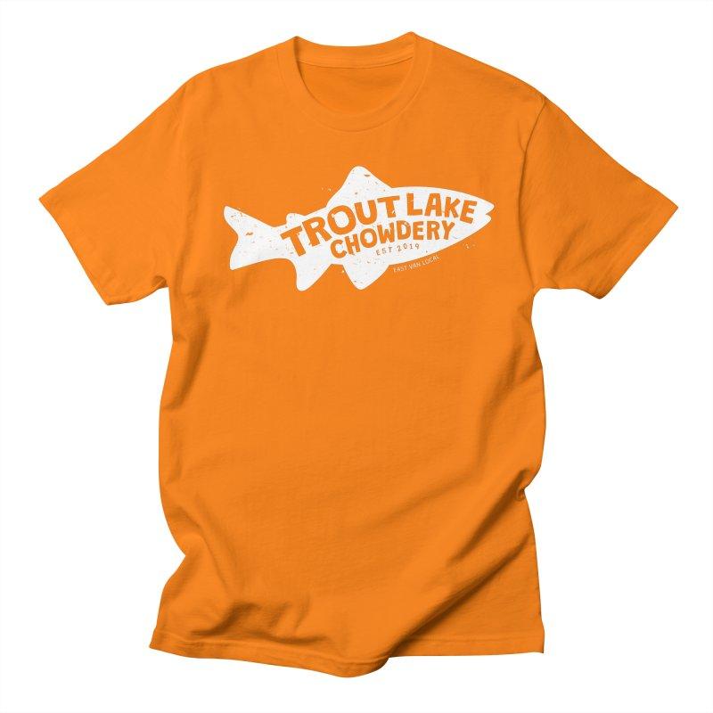Trout Lake Chowdery Men's Regular T-Shirt by A Wonderful Shop of Wonderful Wonders