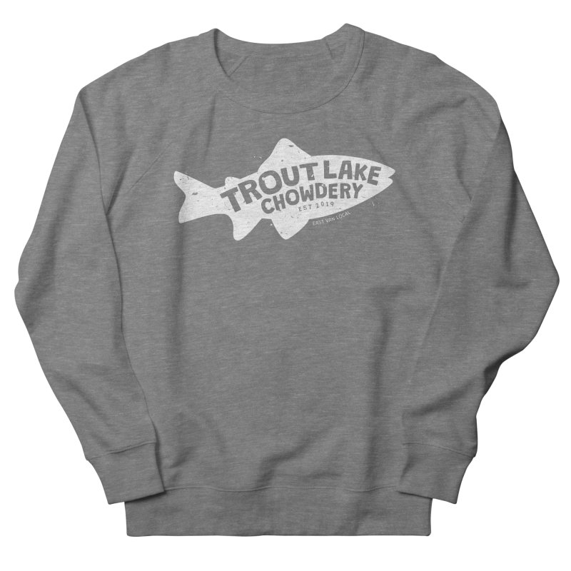 Trout Lake Chowdery Women's French Terry Sweatshirt by A Wonderful Shop of Wonderful Wonders