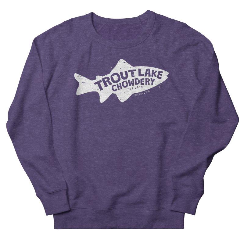Trout Lake Chowdery Men's French Terry Sweatshirt by A Wonderful Shop of Wonderful Wonders