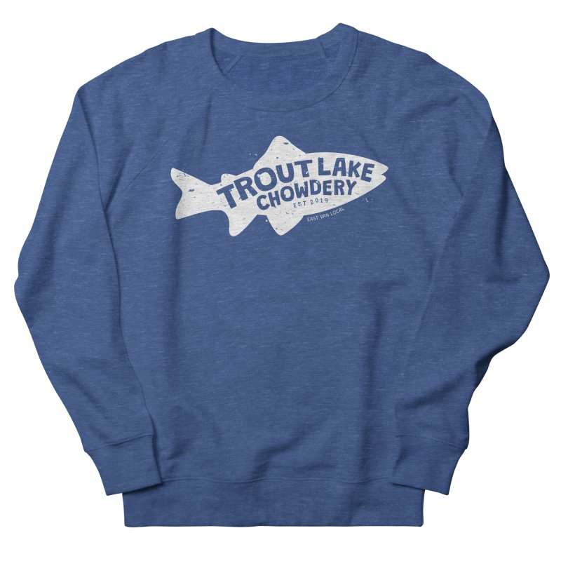 Trout Lake Chowdery Men's French Terry Sweatshirt by A Wonderful Shop of Wonderful Wonders
