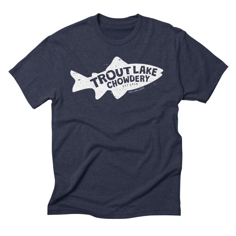 Trout Lake Chowdery Men's Triblend T-Shirt by A Wonderful Shop of Wonderful Wonders
