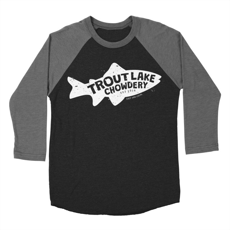 Trout Lake Chowdery Men's Baseball Triblend Longsleeve T-Shirt by A Wonderful Shop of Wonderful Wonders