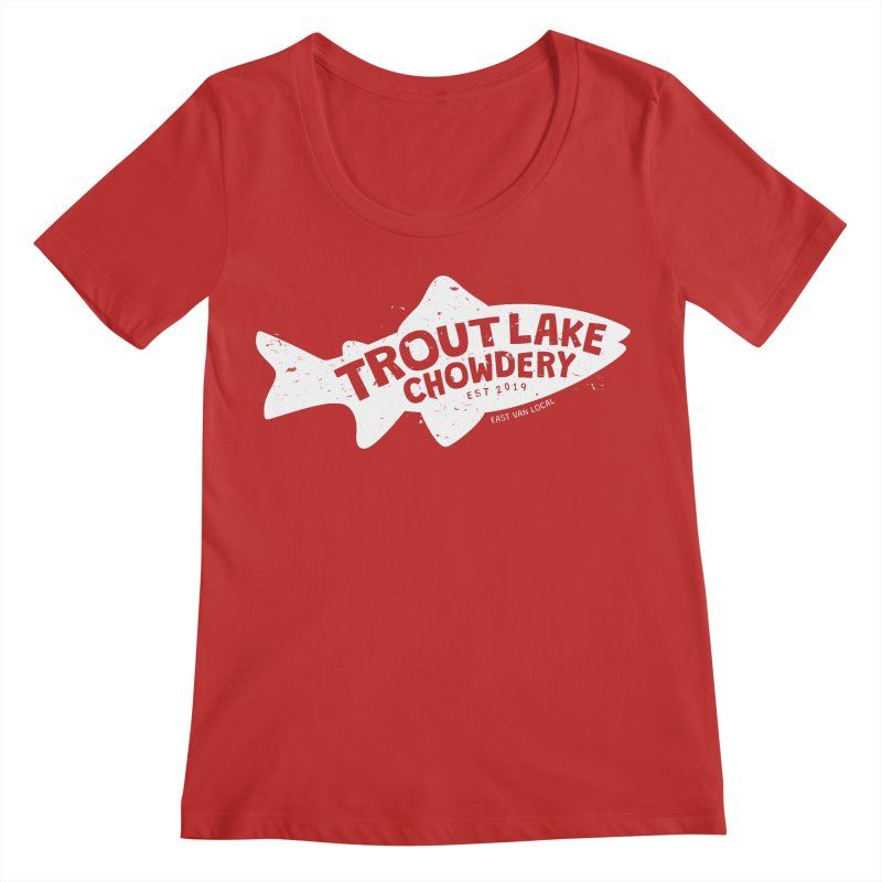 Trout Lake Chowdery Women's Regular Scoop Neck by A Wonderful Shop of Wonderful Wonders