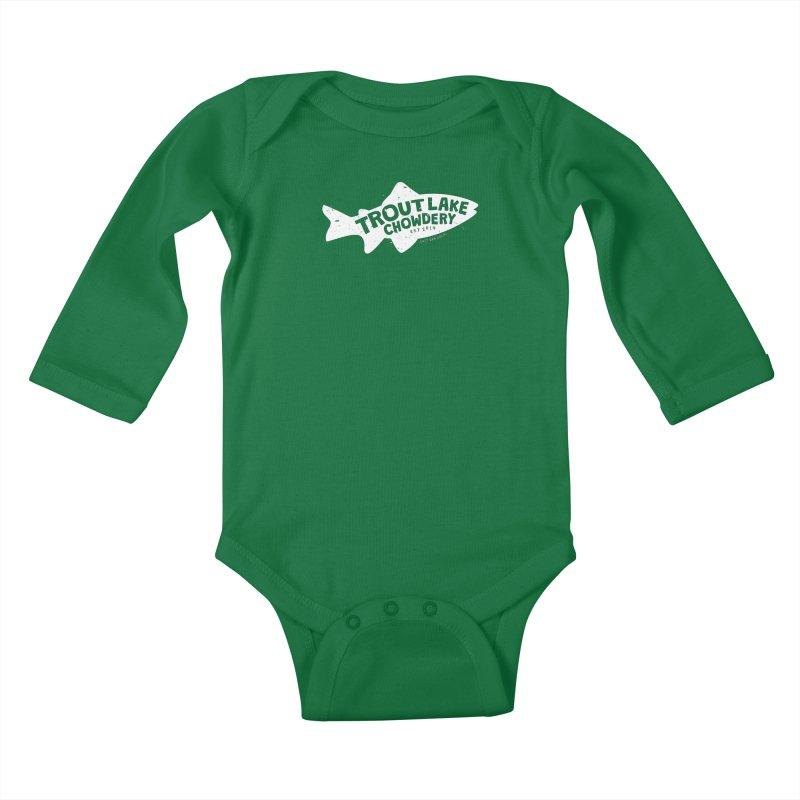Trout Lake Chowdery Kids Baby Longsleeve Bodysuit by A Wonderful Shop of Wonderful Wonders