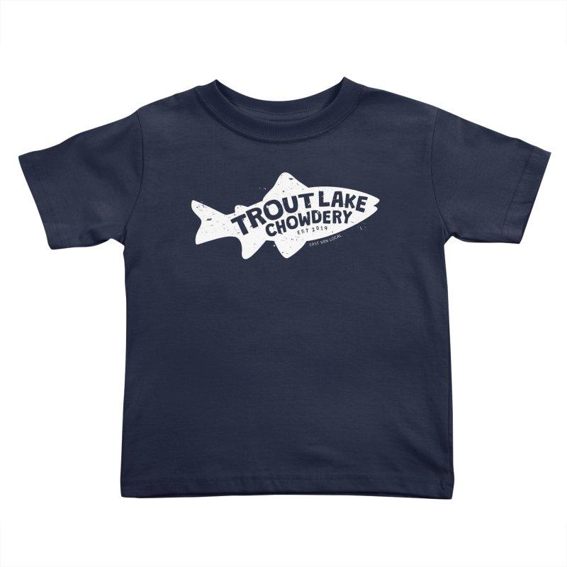 Trout Lake Chowdery Kids Toddler T-Shirt by A Wonderful Shop of Wonderful Wonders