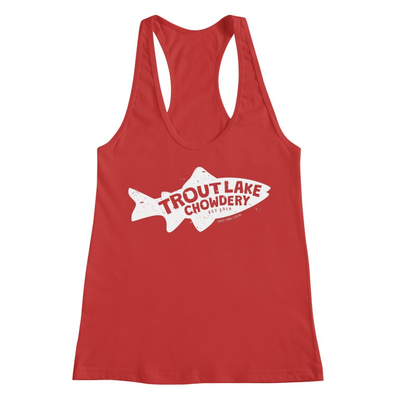 Trout Lake Chowdery Women's Racerback Tank by A Wonderful Shop of Wonderful Wonders