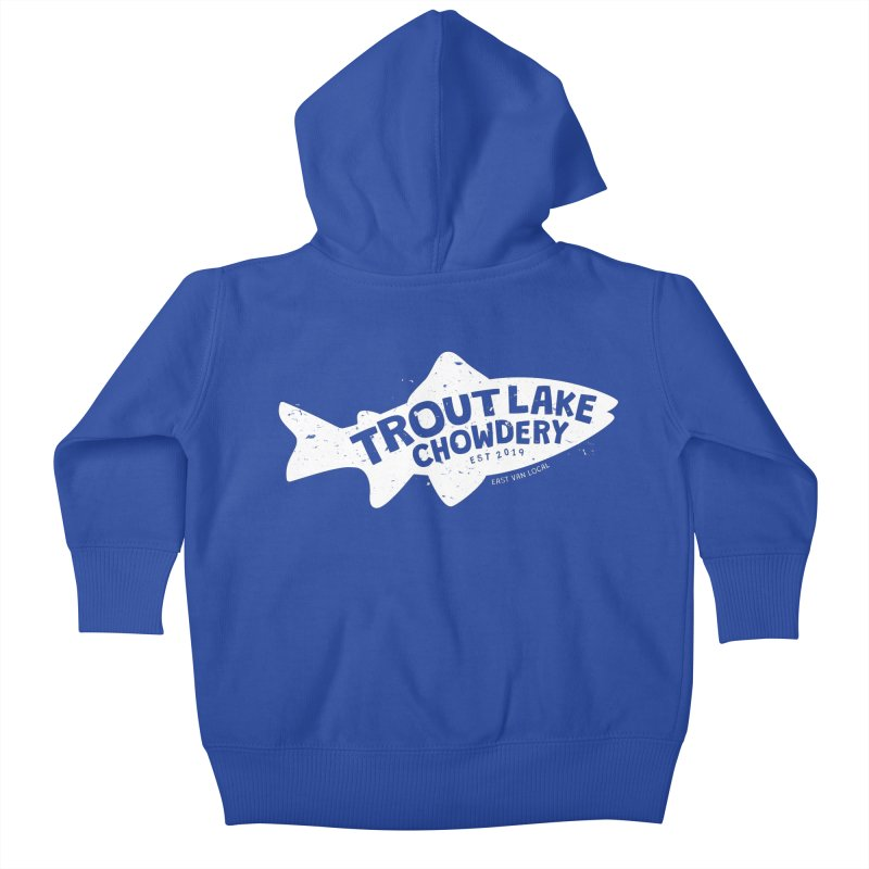 Trout Lake Chowdery Kids Baby Zip-Up Hoody by A Wonderful Shop of Wonderful Wonders