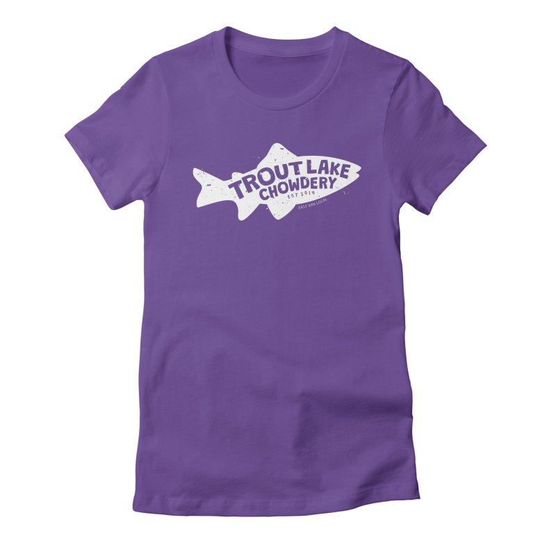 Trout Lake Chowdery Women's Fitted T-Shirt by A Wonderful Shop of Wonderful Wonders