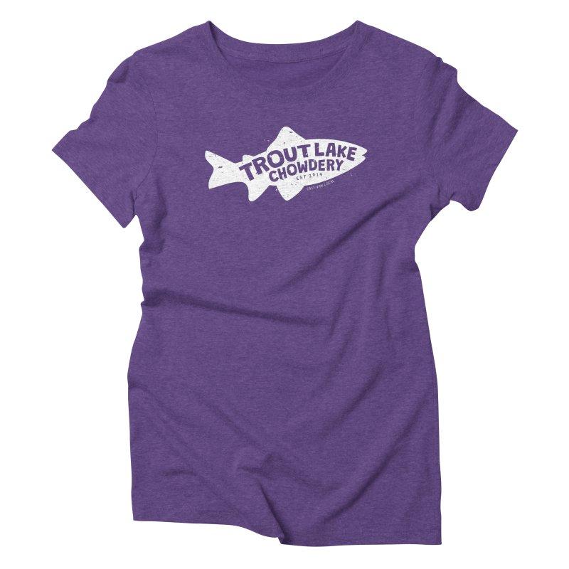 Trout Lake Chowdery Women's Triblend T-Shirt by A Wonderful Shop of Wonderful Wonders