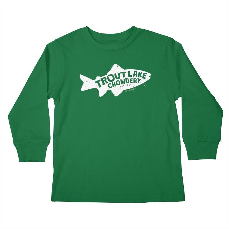Trout Lake Chowdery Kids Longsleeve T-Shirt by A Wonderful Shop of Wonderful Wonders