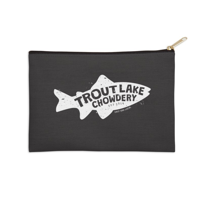 Trout Lake Chowdery Accessories Zip Pouch by A Wonderful Shop of Wonderful Wonders