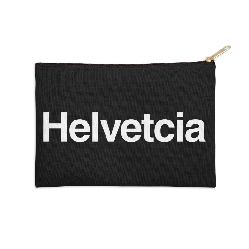 Helvetcia Accessories Zip Pouch by A Wonderful Shop of Wonderful Wonders