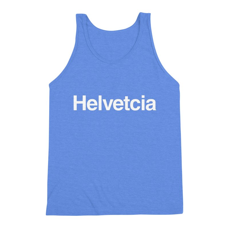 Helvetcia Men's Triblend Tank by A Wonderful Shop of Wonderful Wonders
