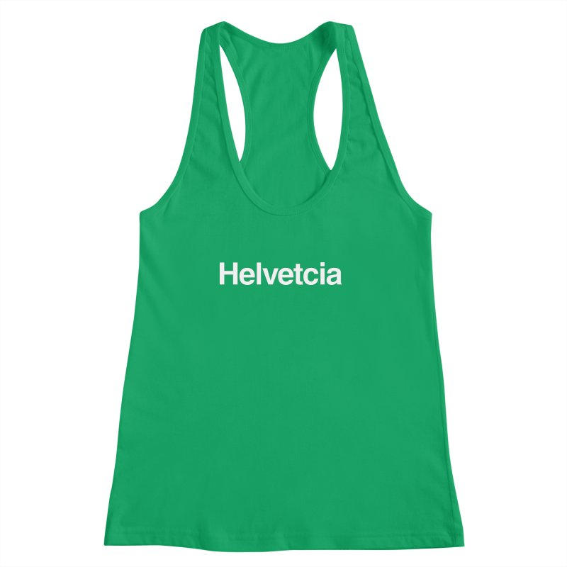 Helvetcia Women's Racerback Tank by A Wonderful Shop of Wonderful Wonders
