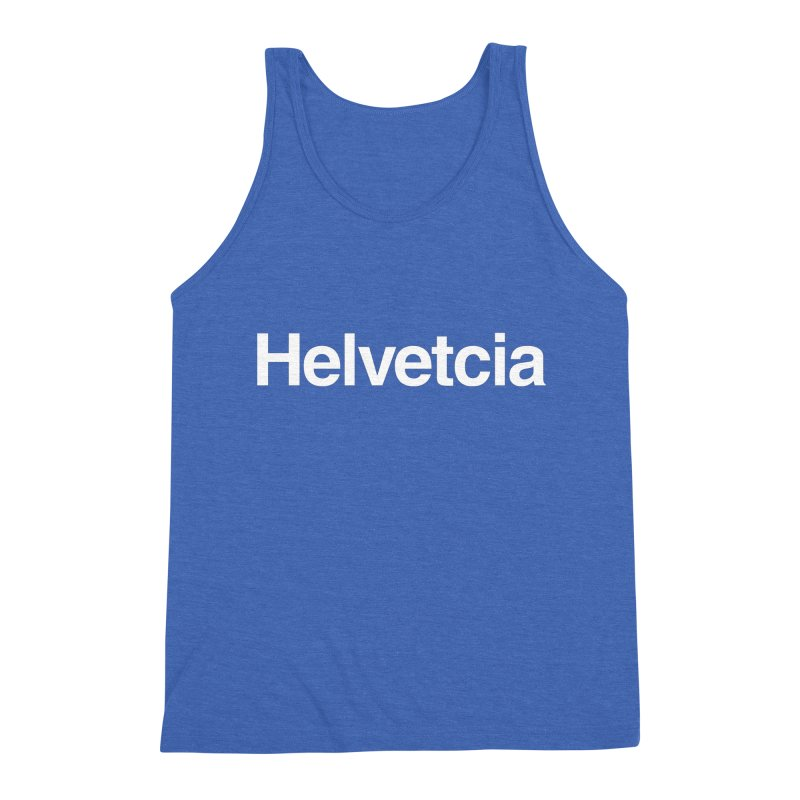 Helvetcia Men's Triblend Tank by A Wonderful Shop of Wonderful Wonders