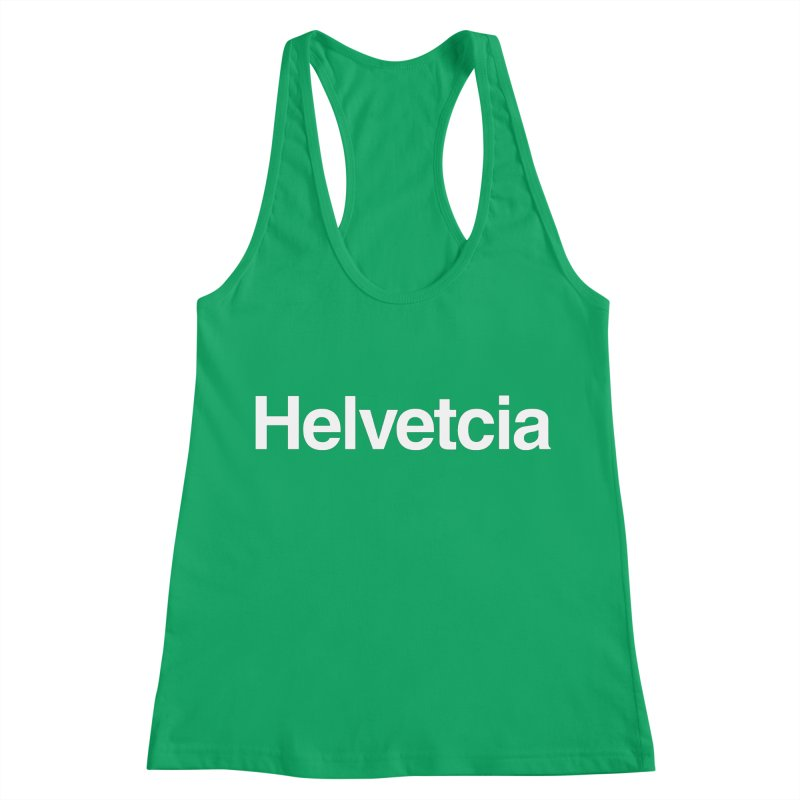 Helvetcia Women's Racerback Tank by A Wonderful Shop of Wonderful Wonders