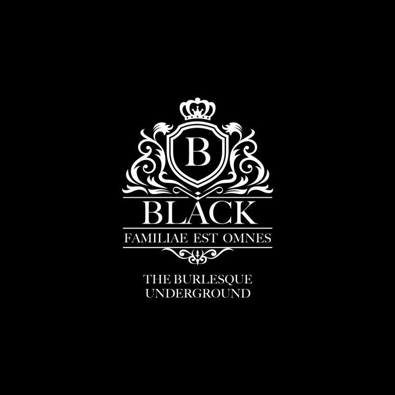 Black (Family is All) Home Blanket by Wonderground