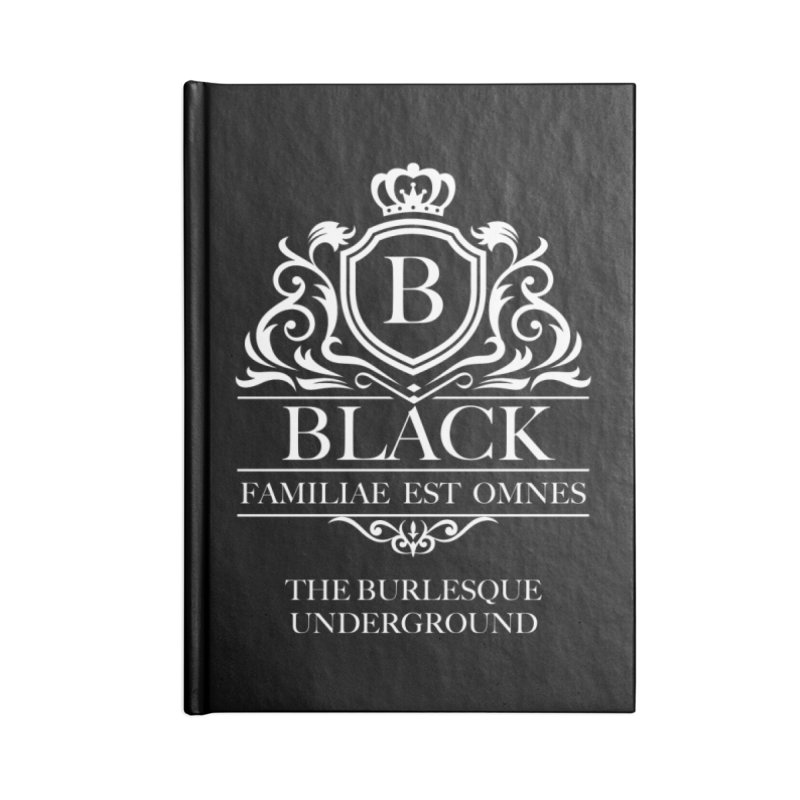 Black (Family is All) Accessories Notebook by Wonderground