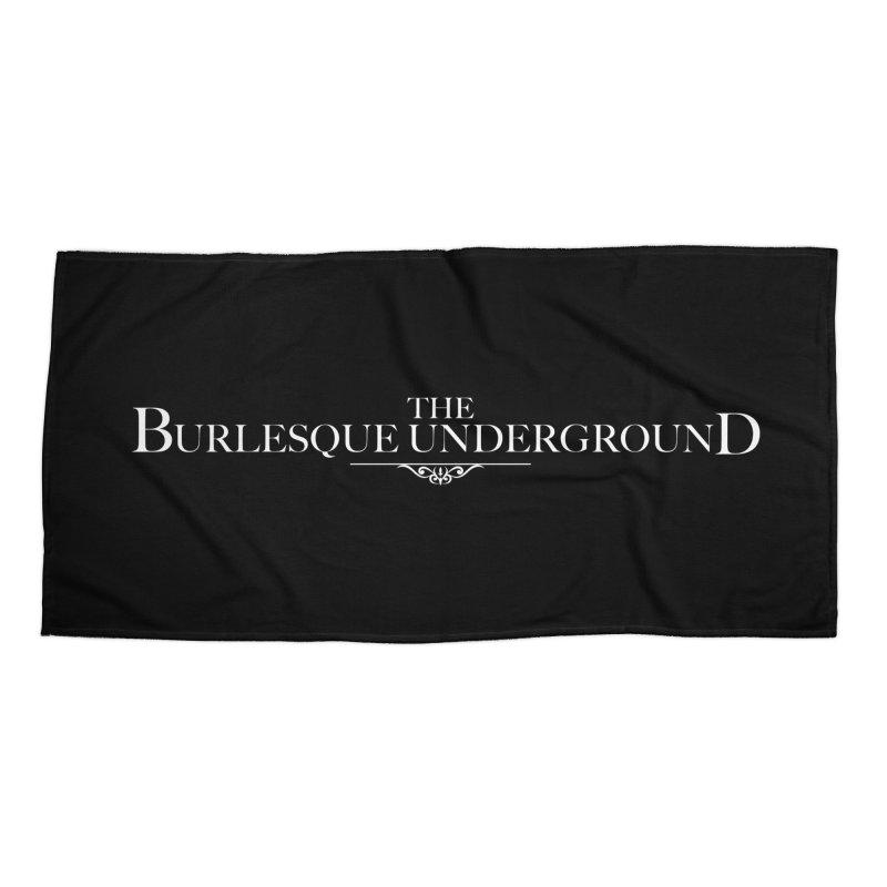 The Burlesque Underground Accessories Beach Towel by Wonderground