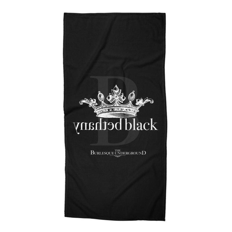 Bethany Black Accessories Beach Towel by Wonderground