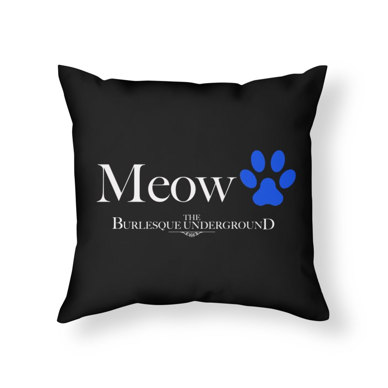Meow. Home Throw Pillow by Wonderground