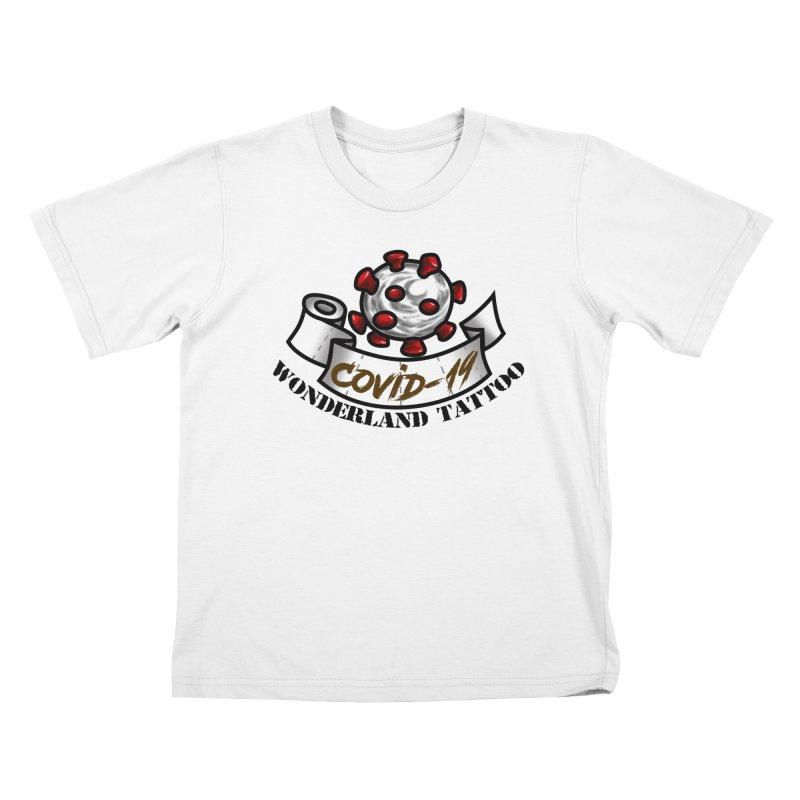 COVID-19 Kids T-Shirt by Wonderland Tattoo Studio's Artist Shop