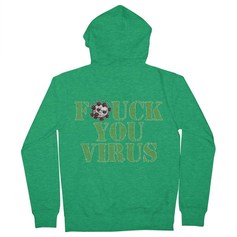 Fu virus 1 Women's Zip-Up Hoody by Wonderland Tattoo Studio's Artist Shop