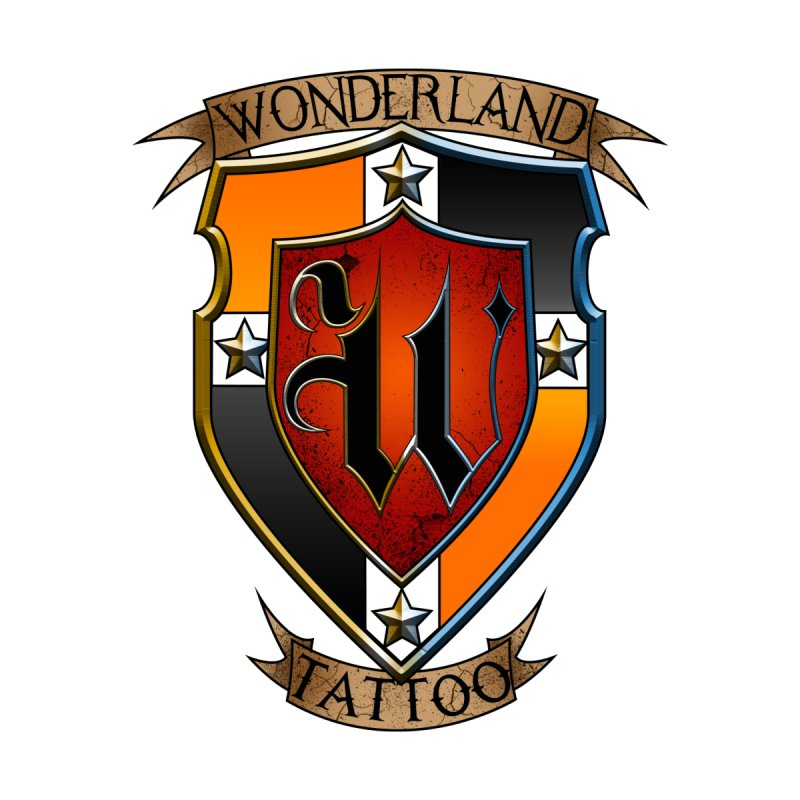 Wonderland Tattoo color shield Men's T-Shirt by Wonderland Tattoo Studio's Artist Shop