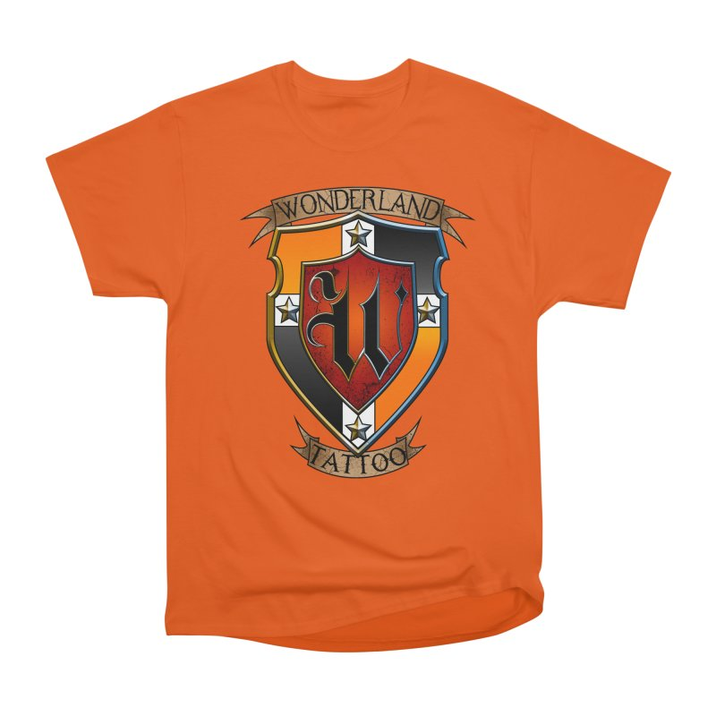 Wonderland Tattoo color shield Men's Heavyweight T-Shirt by Wonderland Tattoo Studio's Artist Shop