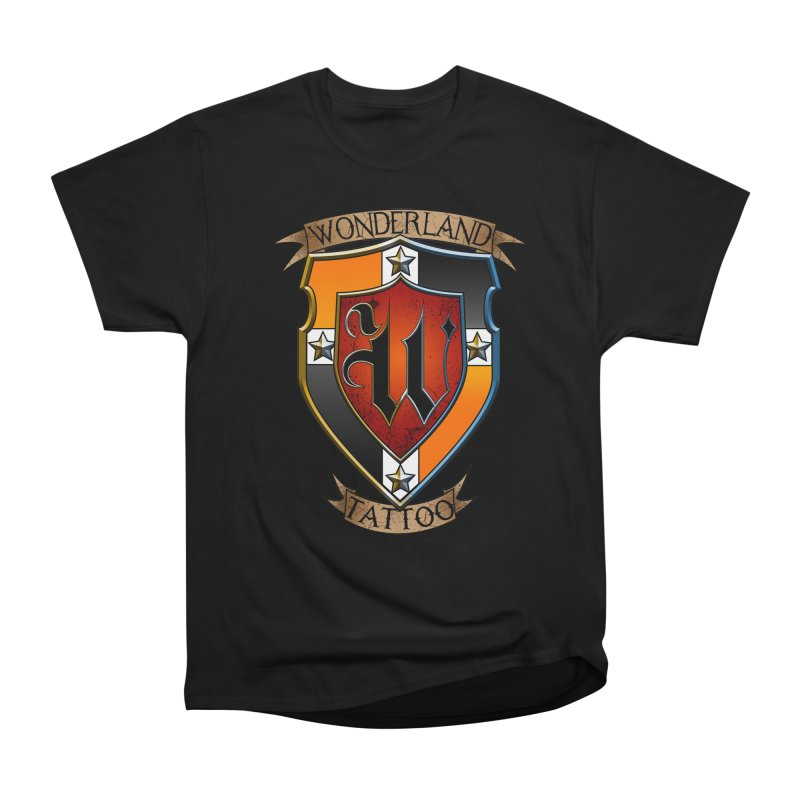 Wonderland Tattoo color shield Men's Heavyweight T-Shirt by Wonderland Tattoo Studio's Artist Shop
