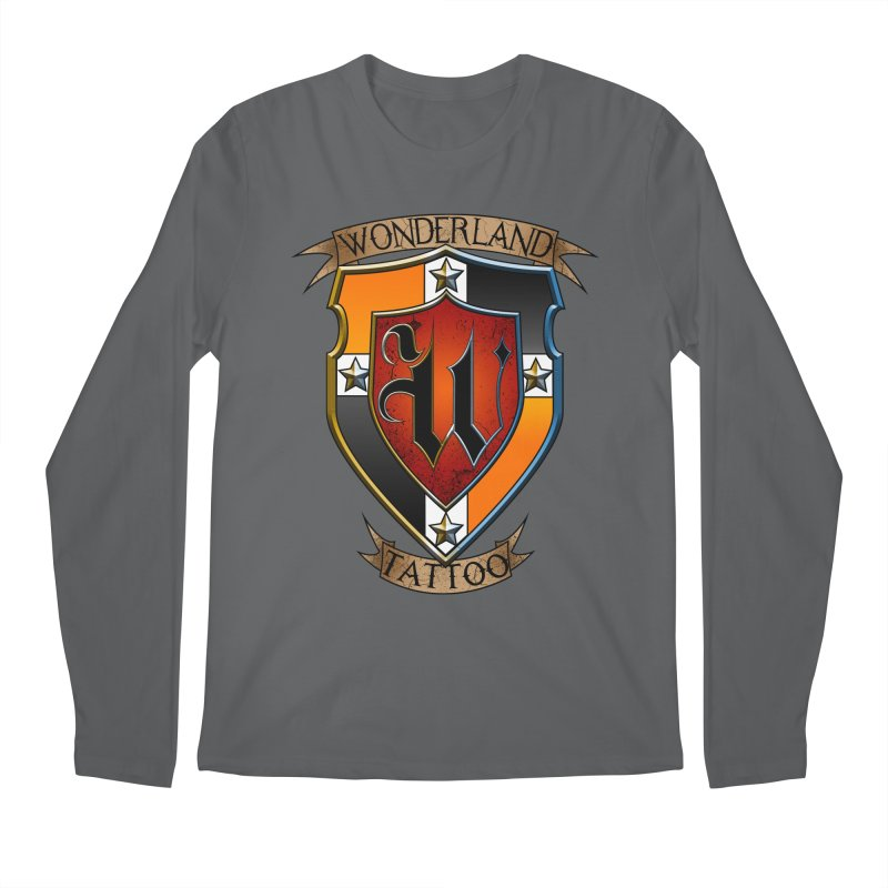Wonderland Tattoo color shield Men's Longsleeve T-Shirt by Wonderland Tattoo Studio's Artist Shop