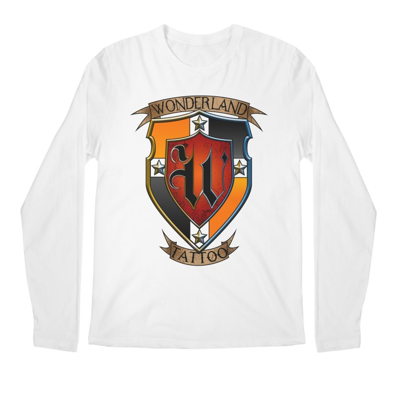 Wonderland Tattoo color shield Men's Regular Longsleeve T-Shirt by Wonderland Tattoo Studio's Artist Shop